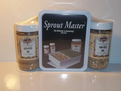 Mini Sprouter with two varieties of seeds