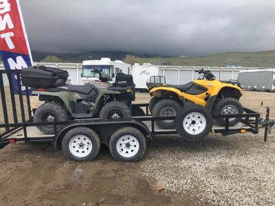 ATVs With Trailer For Rent. Low Miles Reliable
