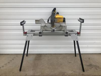 Dewalt Chop Saw and Table Stand for Rent