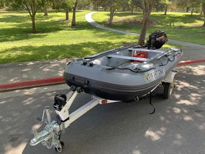 12 ft. Saturn Inflatable Raft w/ Trailer & Suzuki Motor
