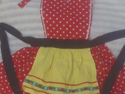 Anna Marie Horner hand crafted full APRON 100% Cotton BRAND NEW