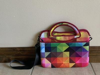 IE Multicolored Geometric Laptop Case Bag