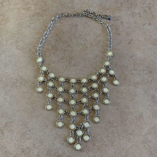 Lucky Brand White Statement Necklace Silver for sale in Herriman , UT