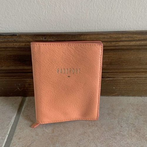 Fossil Leather RFID Peach Passport Case This for sale in Herriman , UT