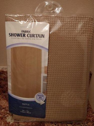 Tan Waffle Fabric Shower Curtain for sale in Bountiful , UT