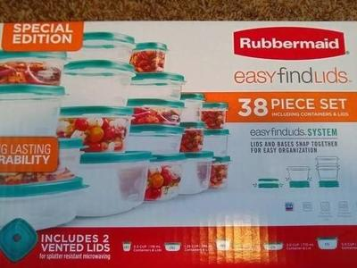 Rubbermaid 38 Piece Tupperware Sets