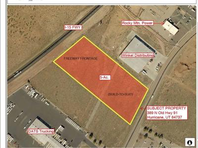 HURRICANE, UT, FREEWAY COMMERCIAL / WAREHOUSE SPACE, 10,000 SF - 30,000 SF, BUILD-TO-SUIT ON FREEWAY FRONTAGE!