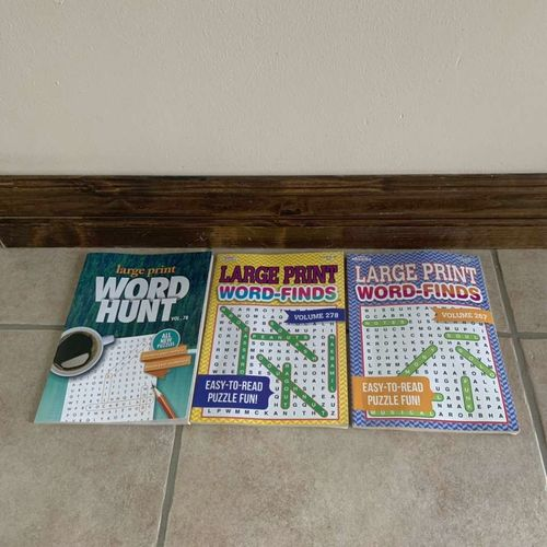 Set Of 3 Large Print Word Search Books  for sale in Herriman , UT
