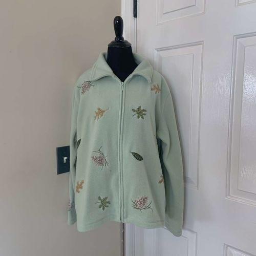 NorthCrest Holiday Lodge Green Zip Up Jacket XL for sale in Herriman , UT