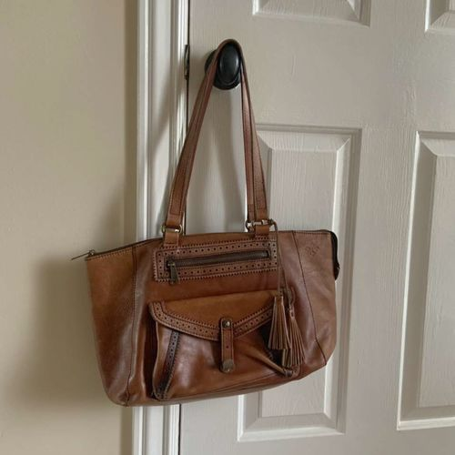 Patricia Nash Leather Handbag Tassels Zippers  for sale in Herriman , UT