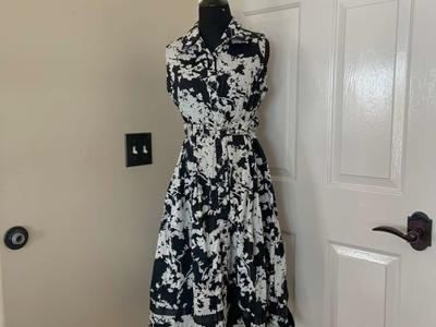Perceptions New York Black and White Floral Dress