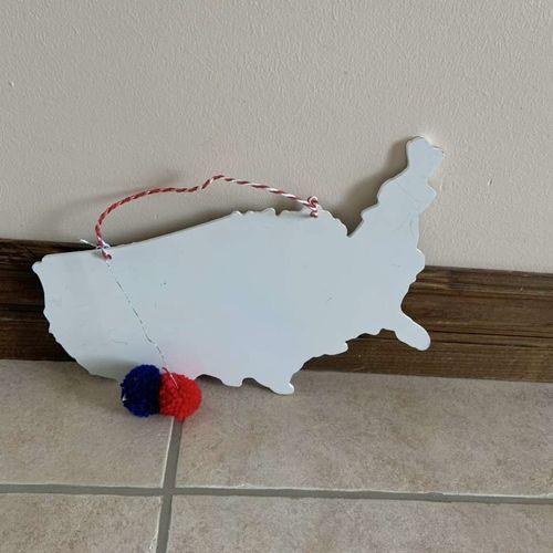 America Outline Wooden Wall Hanging  for sale in Herriman , UT