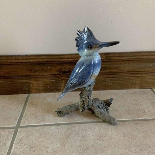 Beautiful Porcelain Blue Jay Bird Statue for sale in Herriman , UT