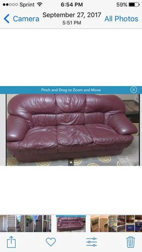 Burgundy Leather Sofa for sale in Provo , UT