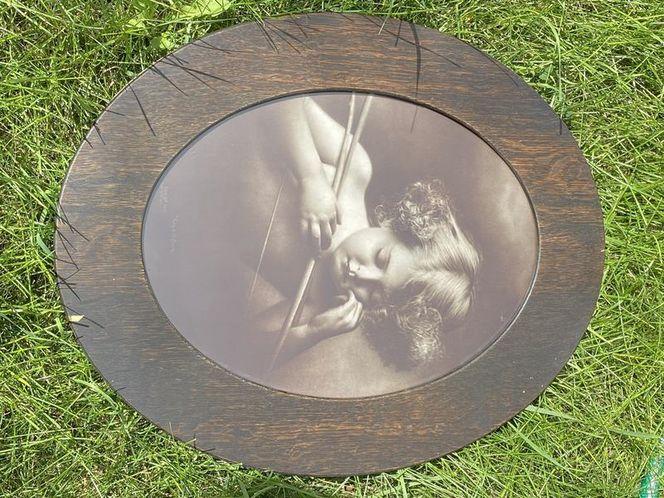 Antique Oak Frame Cupid  for sale in Provo , UT