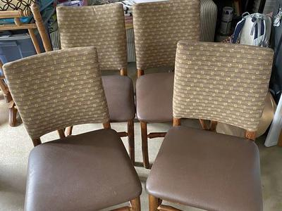Old Hickory Set Of Four Chairs