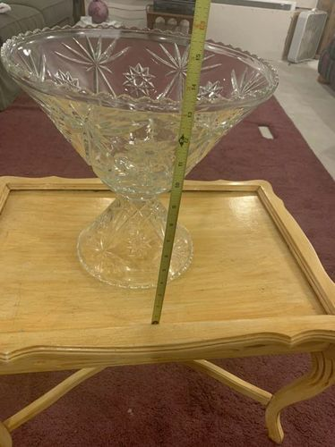 Decorative 8qt Glass Punch Bowl for sale in West Haven , UT