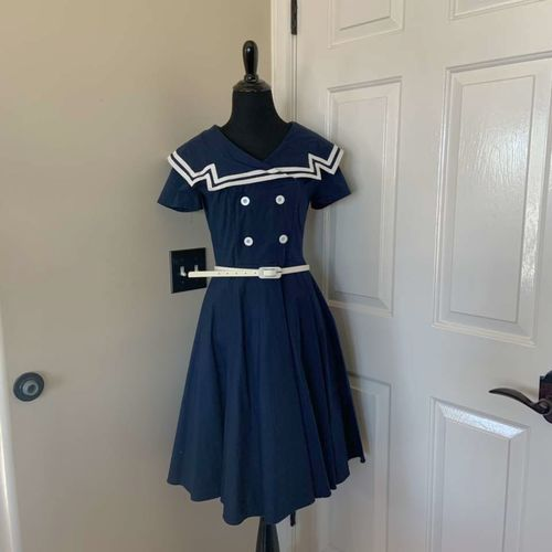 Maggie Tang Nautical Blue and White Swing Dress S for sale in Herriman , UT