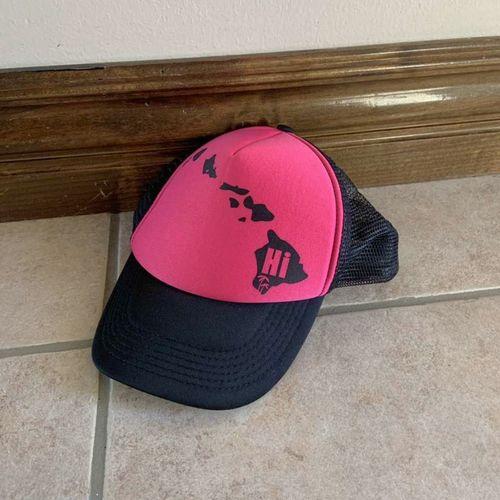 Hawaiian Headwear Pink and Black Hat for sale in Herriman , UT