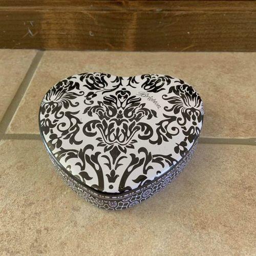 Brighton Heart Tin Jewelry Box Black White Scrolls for sale in Herriman , UT