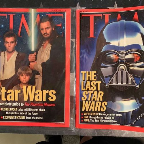 Star Wars Time Magazine April 1999 & May 2005 for sale in Kearns , UT