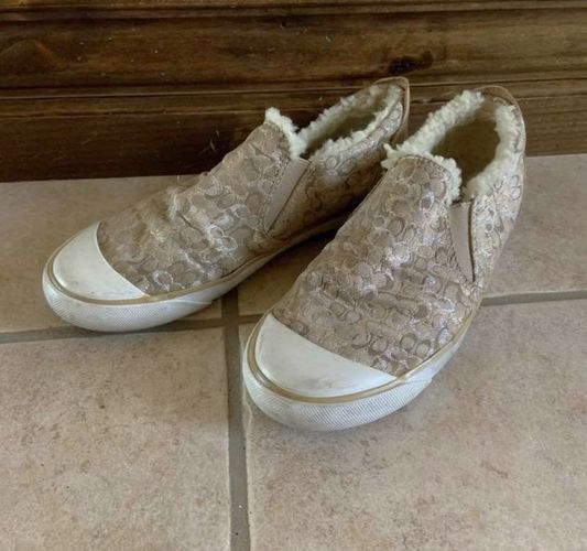 Coach Gold Slip On Shoes Size 6 for sale in Herriman , UT