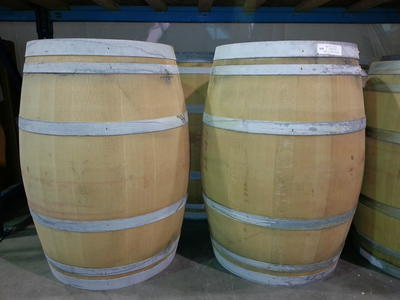 OAK WINE BARRELS - Unique material for home decor, landscaping, or project wood