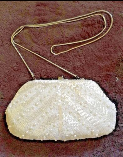 Vintage Neiman Marcus Beaded White Evening Purse for sale in Taylorsville , UT