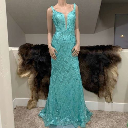 Beautiful Sparkly Sequin Cross-Back Mermaid Gown  for sale in Ogden , UT