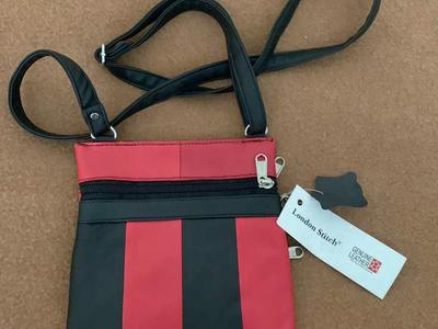 NEW Red-and -Black Crossbody/Shopping Bag