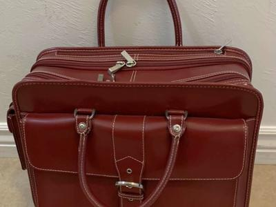 Franklin Covey Cherry /Maroon Travel Bag/roller