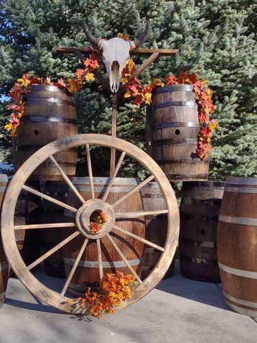 Rustic wagon wheel for wedding and farmhouse decor for rent in Lehi , UT