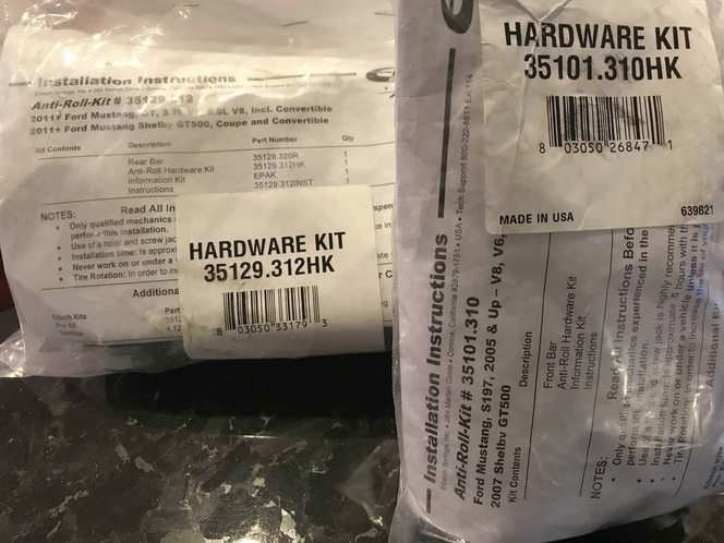 FORD MUSTANG and SHELBY ANTI-ROLL HARDWARE KITS for sale in Sandy , UT