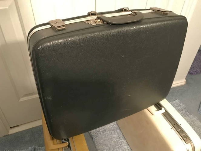 VINTAGE AMCREST HARD SHELL SUITCASE, CHARCOAL for sale in Sandy , UT