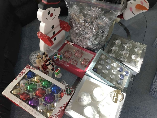 CHRISTMAS TREE ORNAMENT 5 BOXES, GARLAND, CANDY CANE SNOWMAN for sale in Sandy , UT