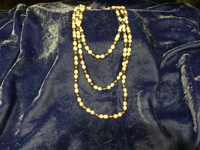 "TAHITIAN PEARLS 86"" INDIVIDUALLY KNOTTED"
