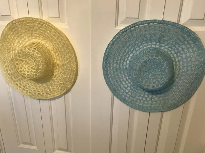 2 LARGE SUN HATS, YELLOW OR BLUE for sale in Sandy , UT