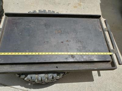 LARGE CAST IRON GRIDDLE. CAMP CHEF OR CAFE