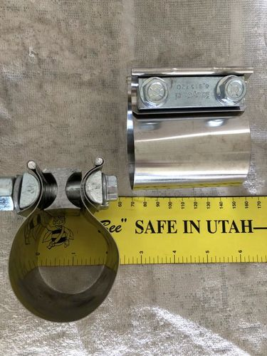 """Six new  2"""" stainless exhaust/pipe band clamps for sale in Murray , UT"""
