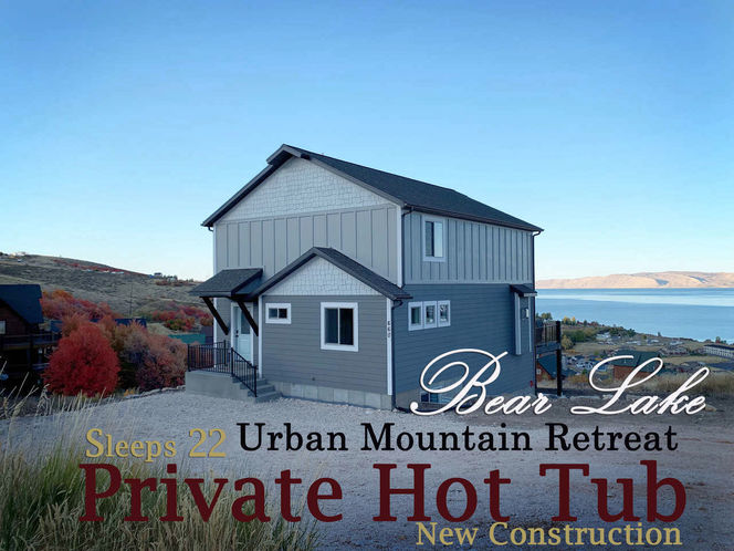 Bear Lake Urban Mountain Retreat Sleeps 22 with private 8 person HOT TUB for rent in Brigham City , UT