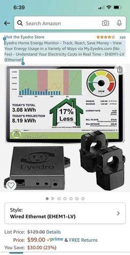 Eyedro Energy Monitor for sale in Stansbury Park , UT