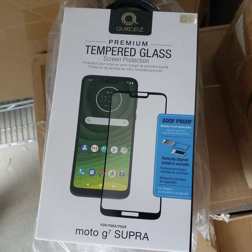 Moto g7 supra tempered glass screen protectors for sale in Eagle Mountain , UT
