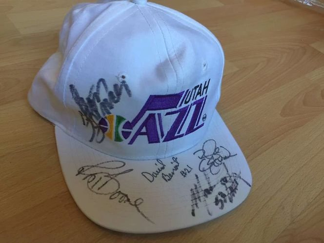 Jazz Hat Autographed Mark Eaton David Benoit Blue for sale in Taylorsville , UT