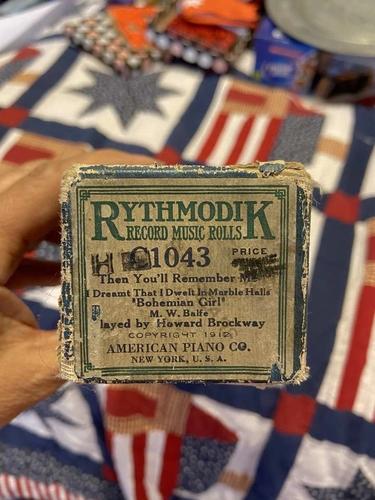 Vintage 1912 Rythmodik Piano Roll C-1043 for sale in Riverton , UT