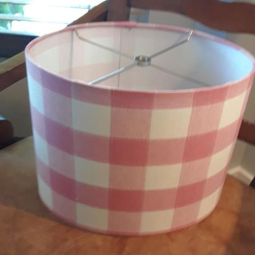 Pink check  Lamp shade-new for sale in Sandy , UT