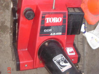 ELECTRIC START TORO cr 2000 snowblower WORKS GREAT