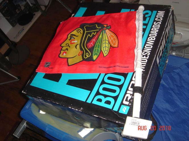 CHICAGO BLACKHAWKS CAR FLAG for sale in Salt Lake City , UT