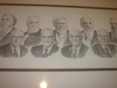 RARE mormon leaders original HAND DRAWN by L.B.LEE