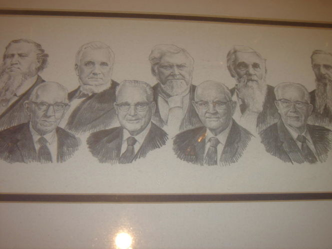 RARE mormon leaders original HAND DRAWN by L.B.LEE for sale in SALT LAKE CITY , UT