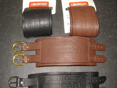 2 ALL LEATHER BURTON WRIST CUFFS ROCK ON BRO!